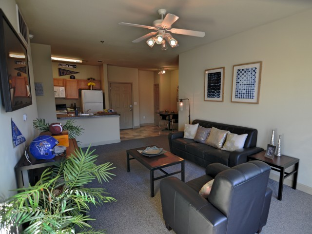 Stratum on Highland Apartments Furnished Apartment Living Room