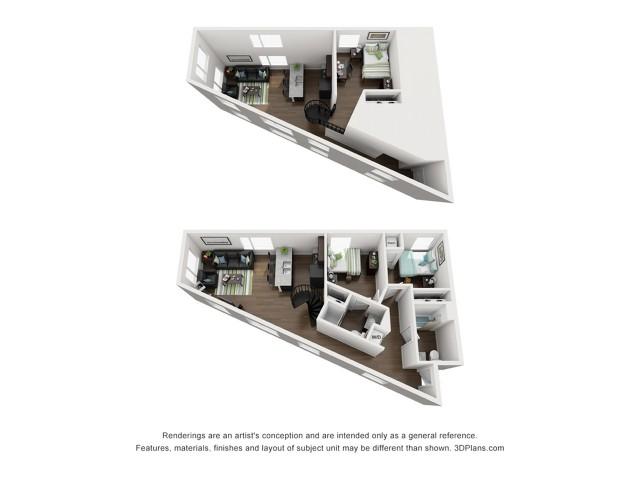 Three Bedroom Two Bathroom Loft