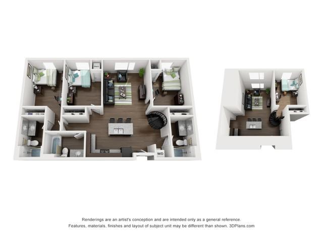 Four Bedroom Three Bathroom Loft