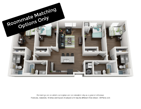 Roommate  Matching Options for 9 & 12 Month Leases. Call now to reserve a place for you starting in September!