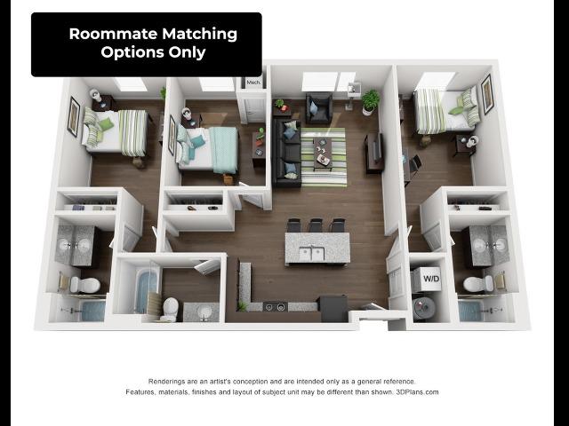 Three Bedroom Three Bathroom