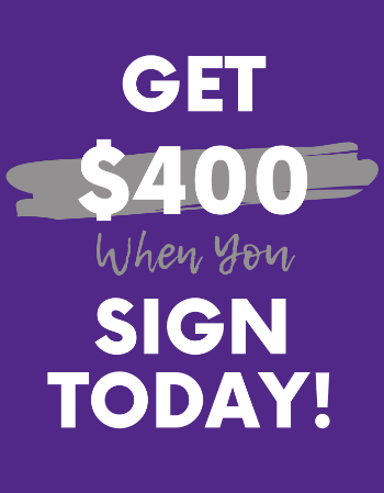 Offering a $400 bonus when you sign your lease today.