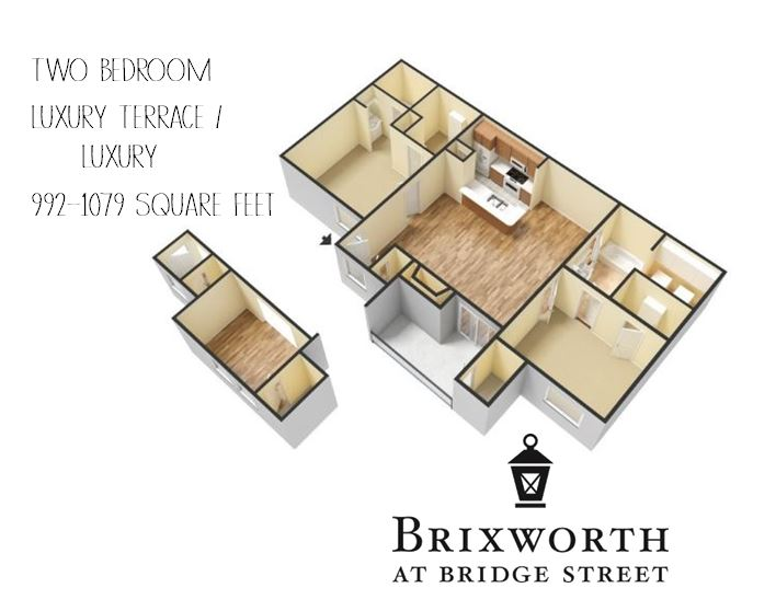 Enjoy a private patio/balcony in the two bedroom Luxury Terrace, or additional living space with a sunroom in the two bedroom Luxury.