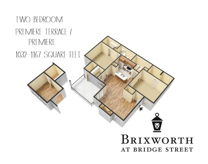 Enjoy a private patio/balcony in the two bedroom Premiere Terrace, or additional living space with a sunroom in the two bedroom Premiere.