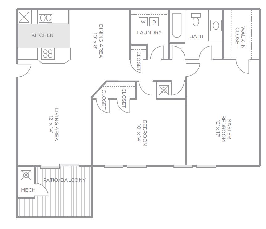 Magnolia Pointe Apartments: 2 Bed / 1 Bath Apartment In Madison AL