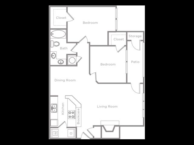 2 Bedroom 1 Bathroom Apartment Home