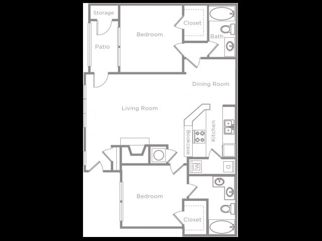 2 Bedroom 2 Bathroom Apartment Home