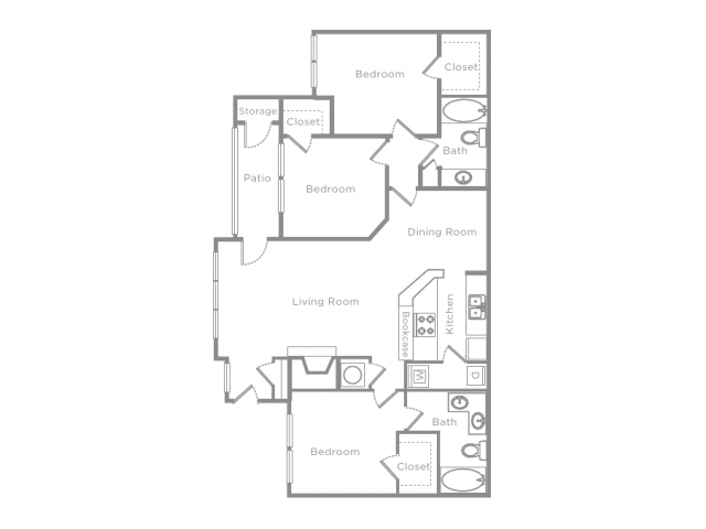 3 Bedroom 2 Bathroom Apartment Home