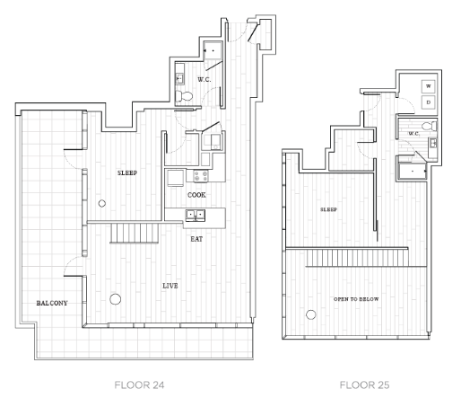2 Bedroom Floor Plan | Tower at OPOP Apartments | One Bedroom Penthouse Apartments in St. Louis
