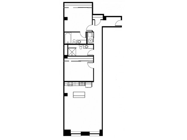 Floor Plan 13-2 Bedroom 2 Bathroom