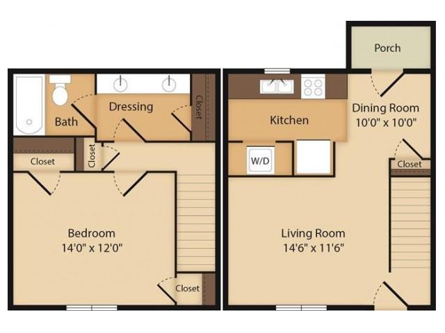 The Coolidge- 1 Bedroom
