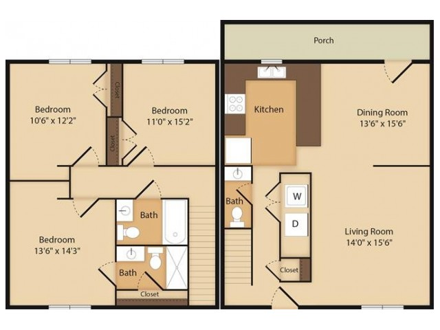 The Reed- 3 Bedroom