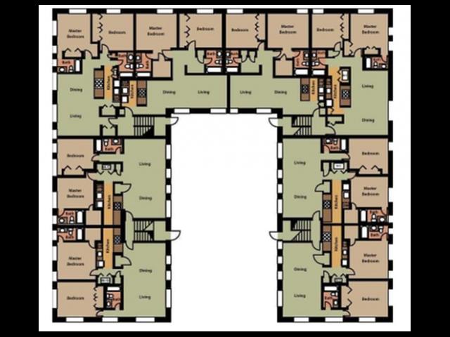 Surrey Court Building- 2 Bed, 2 Bath