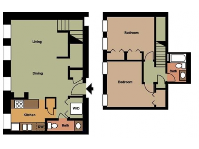 Old Cathedral- 2 Bed, 1.5 Bath
