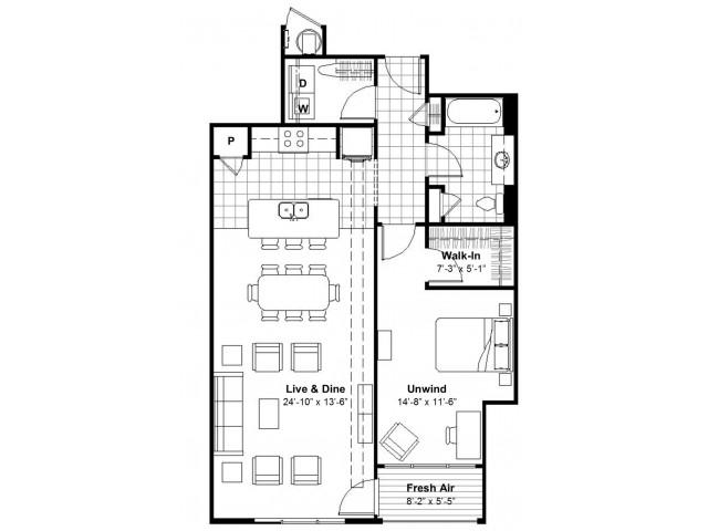 1 Bedroom  | Apartments Kansas City, MO | Lofts at Union Hill