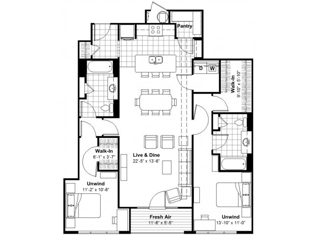 2 Bedroom  | Apartments Kansas City, MO | Lofts at Union Hill