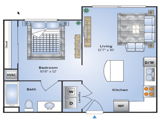 1 Br Floor Plan | Apartments In Birmingham AL| Station 121