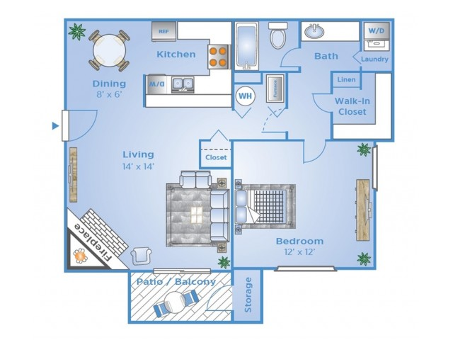 1 B Floor Plan | Summit Peak