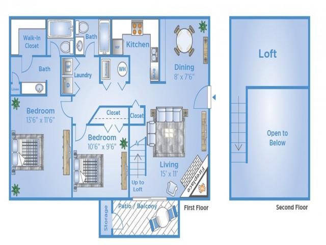 2 B Floor Plan