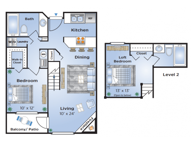 2 Bedroom Floor Plan | Apartments In Aurora Colorado | Advenir at Del Arte