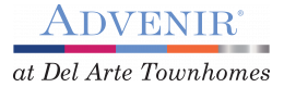 Advenir Living Logo | Aurora Townhomes | Advenir at Del Arte Townhomes