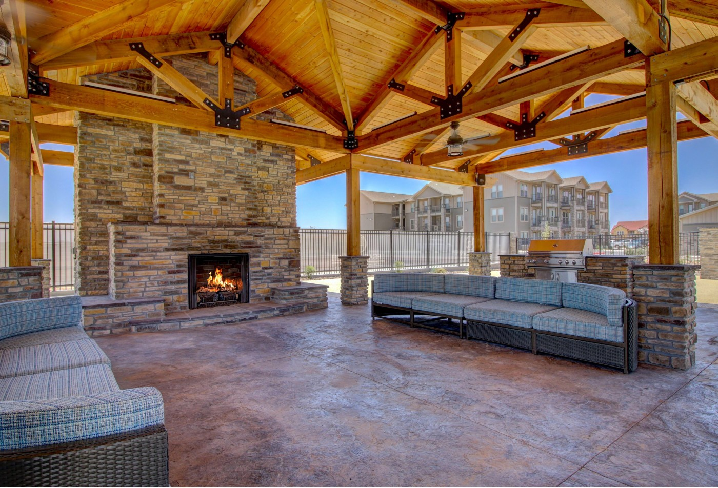 Outdoor Entertainment Space with outdoor kitchen