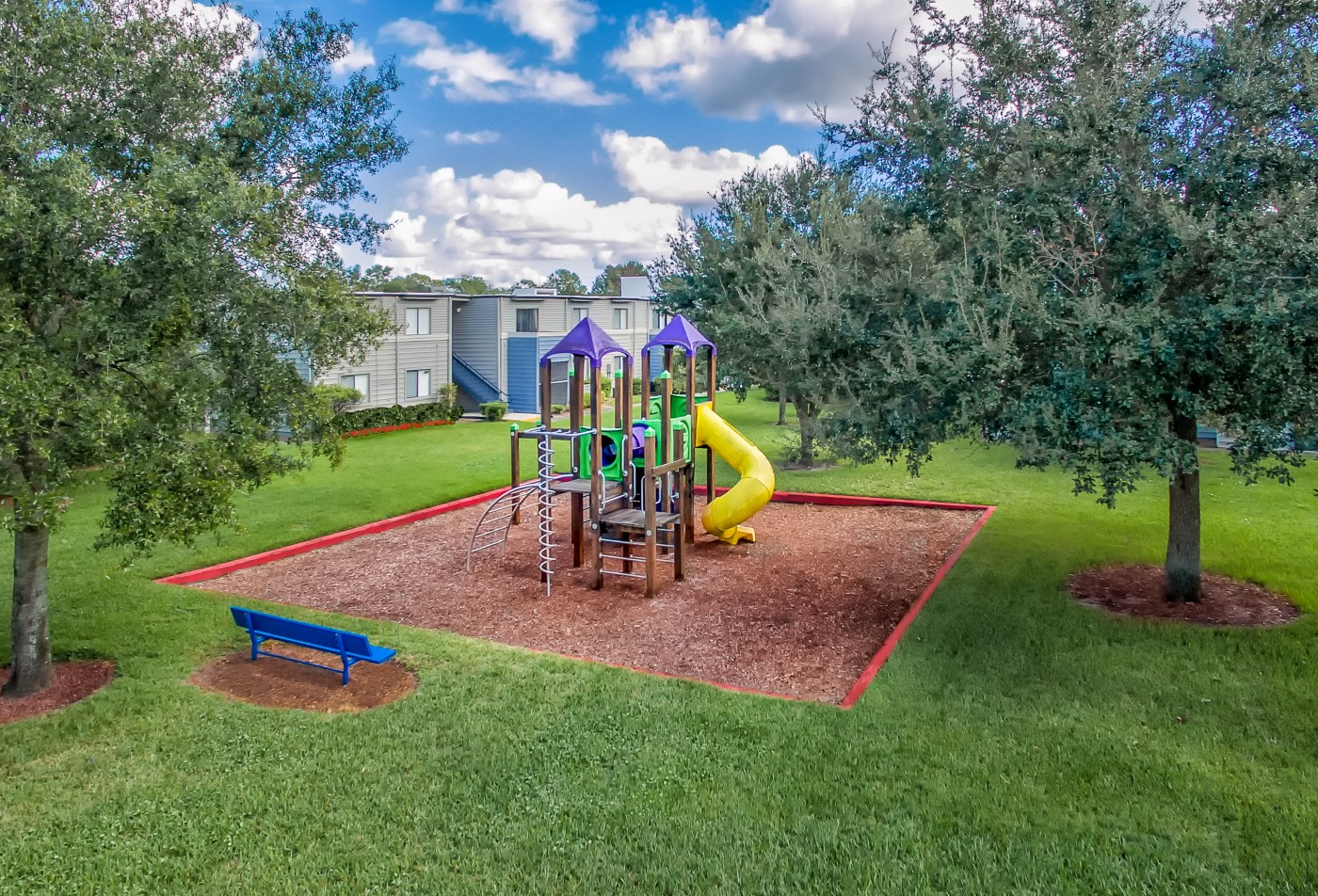 Playground at apartment community