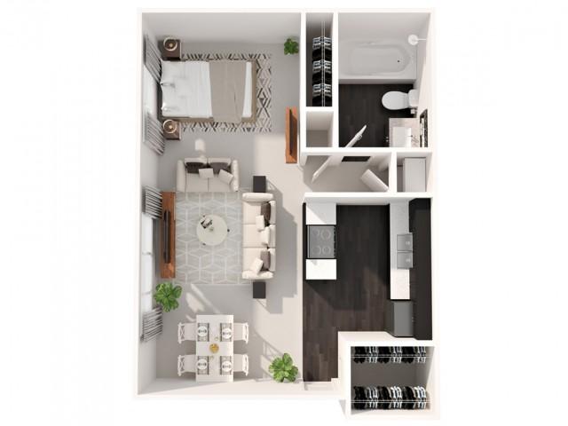 Studio Floor Plan | Apartments In Cherry Creek Colorado