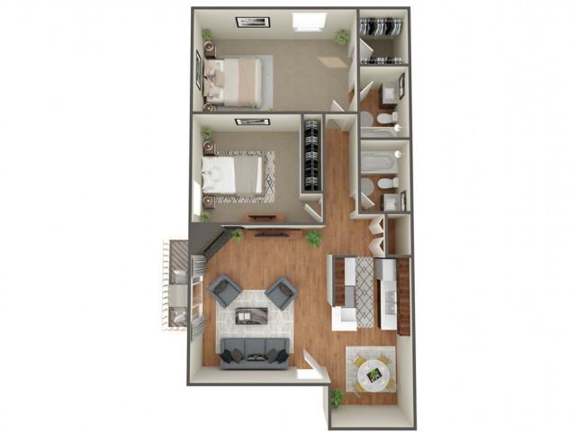 2 Bedroom Floor Plan | Apartments In Cherry Creek Colorado