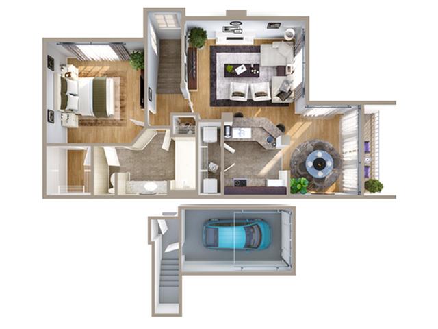 1 Bdrm Floor Plan | Addison Texas Apartments | Advenir on Addison