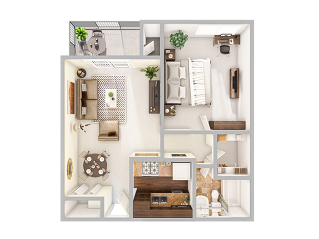 1 Bdrm Floor Plan   Stapleton Apartments   Advenir at Stapleton