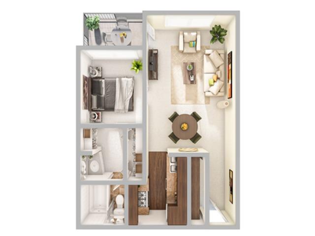 1 Bedroom Floor Plan   Apartments In Stapleton Co   Advenir at Stapleton