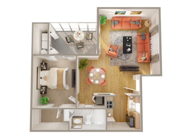 1 Bedroom Floor Plan | Boynton Beach Apartments | Advenir at Banyan Lake