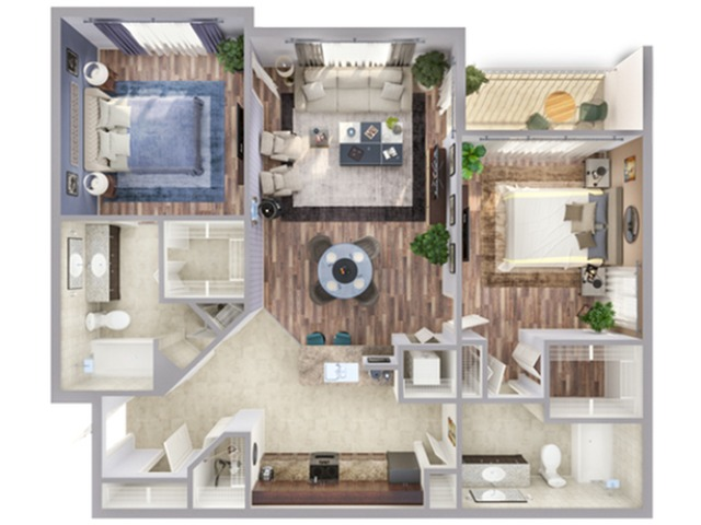 2 Bedroom Floor Plan   Miami Biscayne Apartments   Advenir at Biscayne Shores