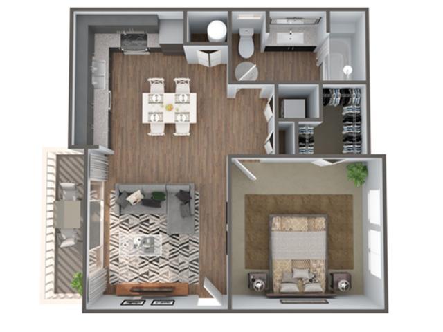 1 Bedroom Floor Plan | Luxury Apartments In Clermont Florida | Advenir at Castle Hill