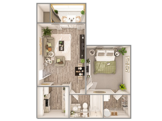 1 Bedroom Floor Plan | Luxury Apartments In Sarasota Florida | Advenir at Gateway lakes