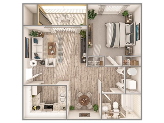1 Bedroom Floor Plan   Luxury Apartments In Sarasota Florida   Advenir at Gateway lakes