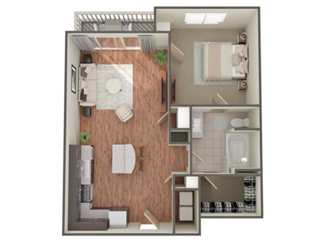 1 Bedroom Floor Plan   Luxury Apartments In Birmingham AL   Station 121