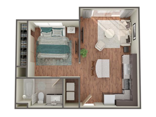 1 Br Floor Plan   Apartments In Birmingham AL  Station 121