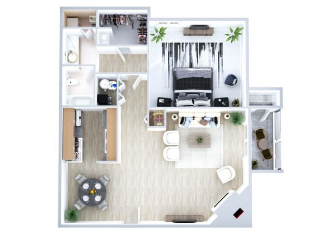 Lookout Point  1 Bedroom Floorplan