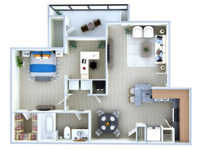 One Bedroom Floor Plan | Apartments Southwest Houston TX | Advenir at The Med Center
