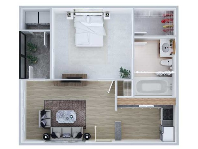 One Bedroom Floor Plan | Apartments Midland TX | Advenir at Mayfield