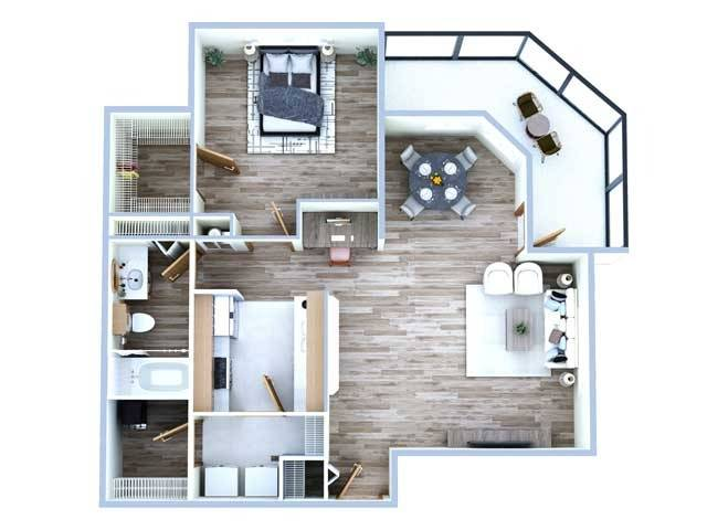 1 Bdrm Floor Plan | Apartment In Sugar Land Tx | Advenir at Milan