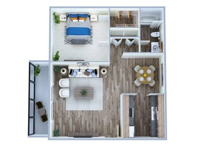 1 Bedroom Floor Plan | Altamonte Springs Apartments | Magnolia