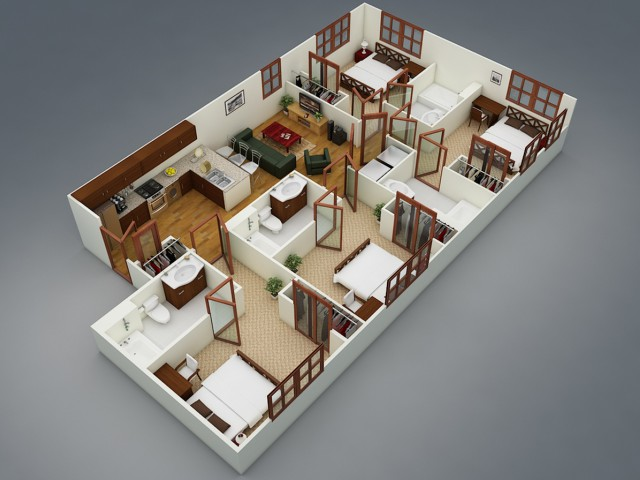 F3: 4 Bed - 4 Bath Deluxe