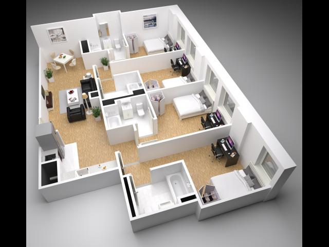 D2 Floorplan