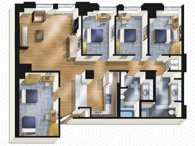 4x2. Floors 3-13