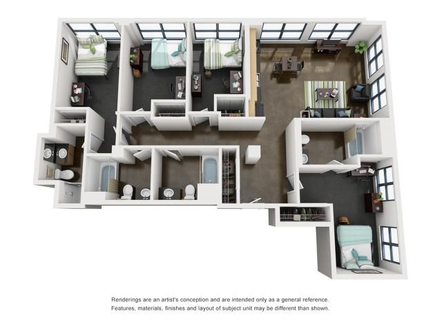 Jackson 3D Floorplan