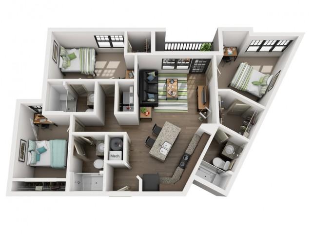 3x3 Floor Plans