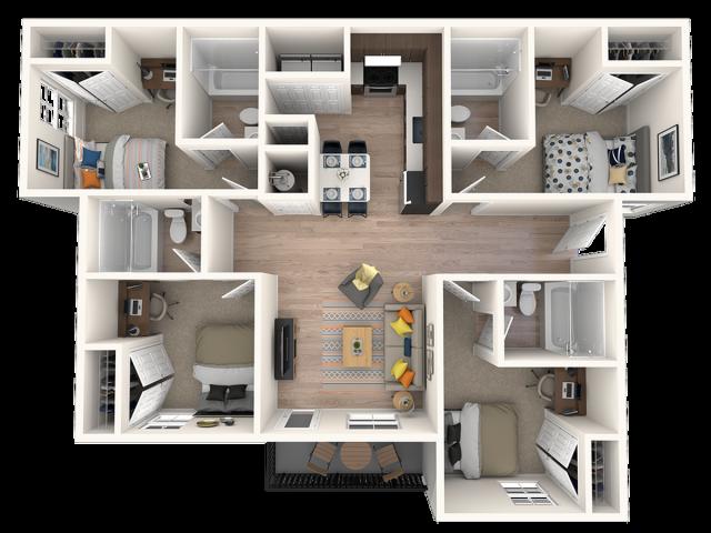 4x4 floorplan